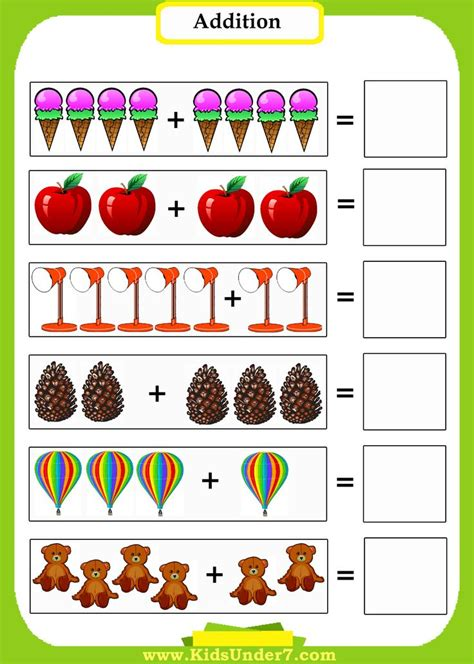 Preschool Mathaddition Worksheets Introduce Preschoolers To Math Using Pictures To Count