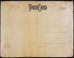 vintage postcard template back 2 | tamar | Pinterest ...
