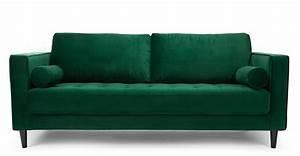 Canape Vert Emeraude : canap design en velours vert canap 3 places faye ~ Teatrodelosmanantiales.com Idées de Décoration