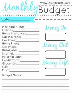 20 free printable monthly budget planners kitty baby love With easy budget planner template