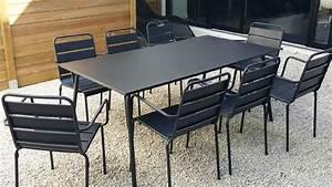 Table Salon Metal : stunning table salon de jardin metal photos awesome interior home satellite ~ Teatrodelosmanantiales.com Idées de Décoration