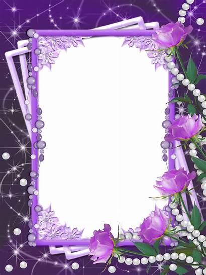 Frame Purple Frames Transparent Flower Borders Lavender