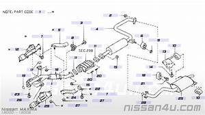 2000 Nissan Maxima Exhaust Diagram