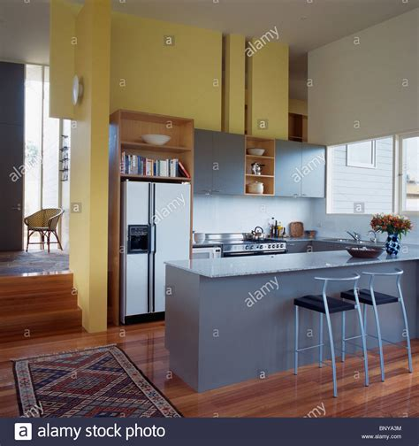 Stools At Breakfast Bar On Gray Island Unit In Modern. Kitchen Art Design Center. Kitchen Granite Countertop Cost. Kitchen Art Wide Grill Review. Small Kitchen Flies. Kitchen Storage Organisers. Kitchen Makeover Redditch. Kitchen Stove On Sale. Green Kitchen Stories Cashew Yoghurt