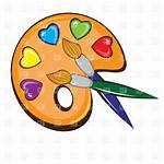 Artist Paint Palette Clipart Clip Brush Vector