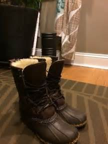 ebay ll bean womens boots size 9 ll bean boots 10 quot inch womens shearling lined size 6 winter fits like a 7 ebay
