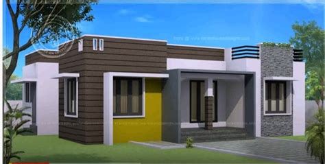 1 Bhk Single Floor Modern Home Design At 600 Sq Ft