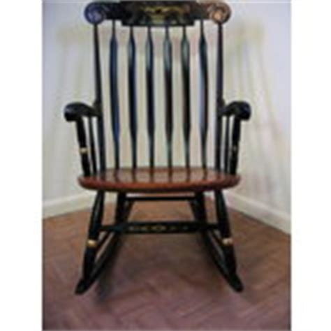 Hitchcock Rocking Chair Value by Authentic L Hitchcock Paint Decorated Rocking Chair 03