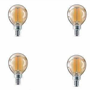 Vintage Light Bulbs Home Depot Philips 40 Watt Equivalent G16 5 Dimmable Vintage Edison