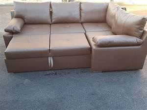 brand new brown leather corner sofa bed with storagecan With country sofa bed