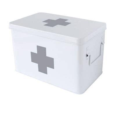 boite à pharmacie boite pharmacie grand mod 232 le m 233 tal blanc castorama