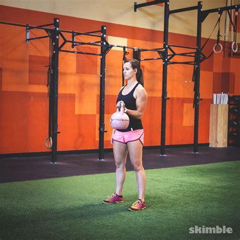 kettlebell bicep curls left exercises exercise workout skimble trainer biceps kettlebells arm