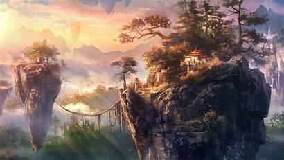 Flying Islands Fantasy Wallpapers Desktop