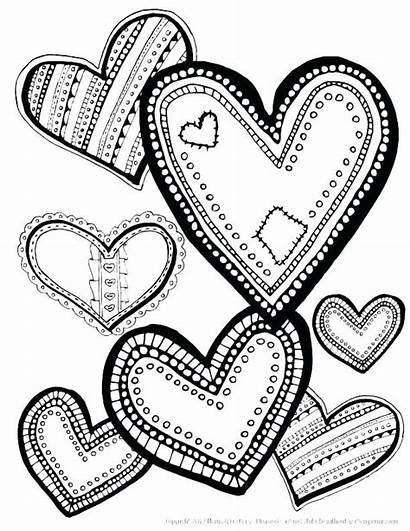 Coloring Pages Heart Laugh Valentine Designs Printable