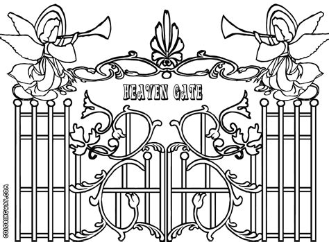 gate colorings coloring pages    print
