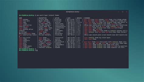 theme hyper terminal  linux