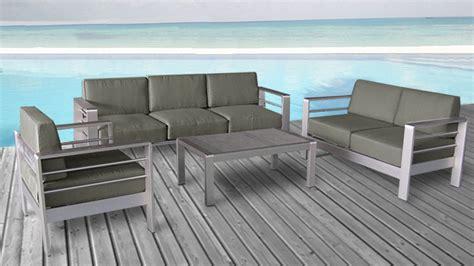 conforama promo canapé canapé orolo de jardin 3 places en aluminium salon de