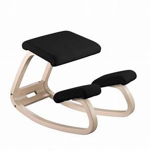 Chaise De Bureau Bois : chaise de bureau ergonomique en tissu et bois variable varier 4 pieds tables chaises et ~ Preciouscoupons.com Idées de Décoration