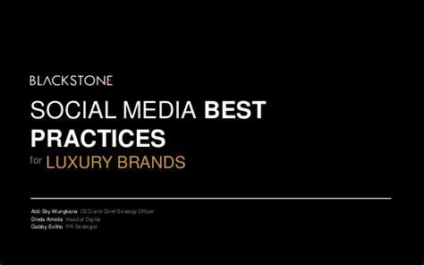 Social Media Best Practices For Luxury Brands