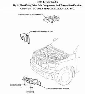 Serpintine Belt  How To Change Belt On Tundra 2007 5 7