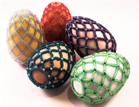 Easter Treasures Beaded Egg Pattern Beading Tutorial In Pdf
