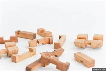 Barrel Interlocking Puzzle Wooden Puzzles Solve Beer