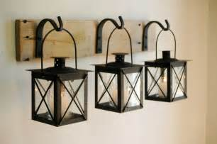 Home Interior Wall Hangings Black Lantern Trio Wall Decor Home Decor Rustic Decor