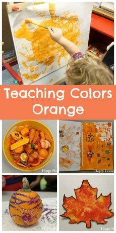 color week 4 orange activities for teaching and learning 383 | df89277685066b36269bba784464cbd9 teaching colors preschool colors