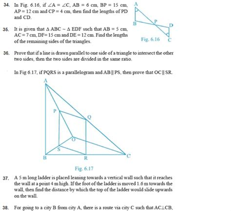 important questions  class  maths chapter  triangles