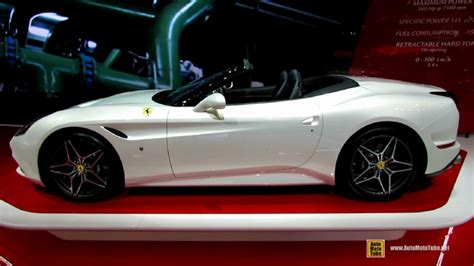 With a maximum power of 560 hp at 7,500 rpm, and a maximum torque of 755 nm in seventh gear, the ferrari california t has become the benchmark in its segment. 2015 Ferrari California T Spider at 2014 Geneva Motor Show