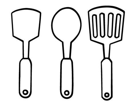 dessin de cuisine à imprimer coloriage de spatules pour colorier coloritou com