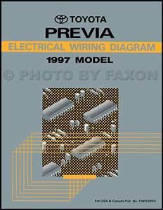 1997 Toyota Previa Wiring Diagram Manual Original