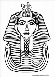 Free coloring pages of pharaoh mask for King tut mask template
