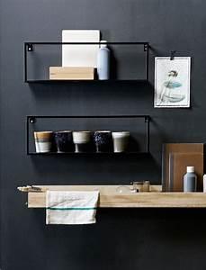Regal Schwarz Ikea : das moderne wandregal aus metall von de eekhoorn ist schwarz lackiert und gut kombinierbar ~ Eleganceandgraceweddings.com Haus und Dekorationen