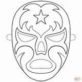 Luchador Colorear Mask Coloring Dibujos Luchadores Mascaras Mascara Dibujo sketch template