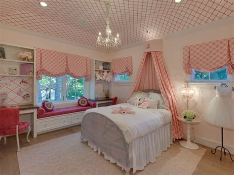 Wallpapered Ceiling  Traditional  Girl's Room Houston