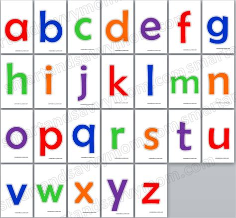 HD wallpapers printable lower case alphabet cards