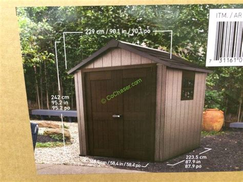 resin shed costco keter 7 5 x 7 resin outdoor storage shed costcochaser