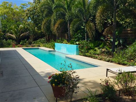 mid century modern wprivate lap pool  secluded garden