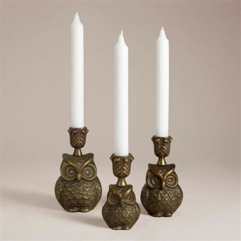 owl candle holder owl metal candleholder collection eclectic