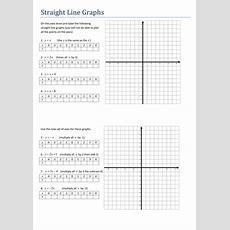 Maths Algebra Straight Line Graphs Worksheet By Tristanjones  Teaching Resources