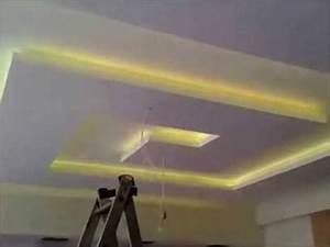 placoplatre (ba13) faux plafond avec led - YouTube