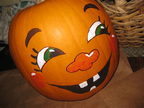 Paint Color Pumpkin by Bits Pieces This That Painted Pumpkin Faces