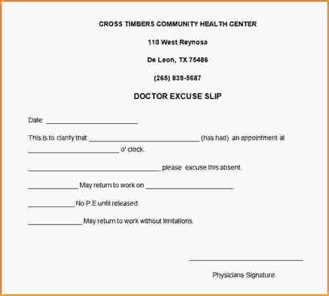 printable doctors note for work free printable doctors excuse for work 24272510 png loan