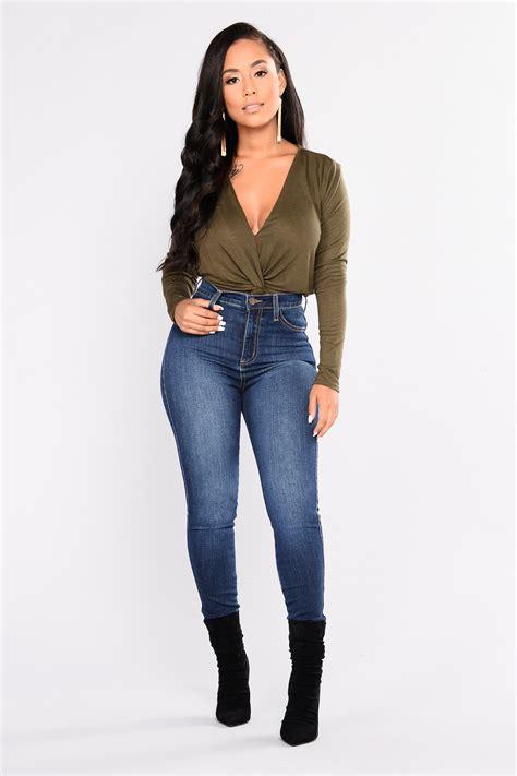 Luxe High Waist Skinny Jeans - Dark
