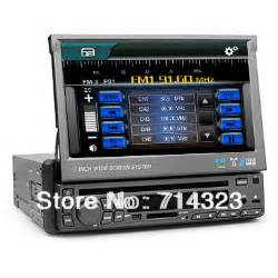 single 1 din 7 quot touch screen car stereo in dash dvd player