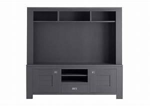 Meuble Tele Haut : acheter votre meuble t l contemporain haut en ch ne gris chez simeuble ~ Teatrodelosmanantiales.com Idées de Décoration