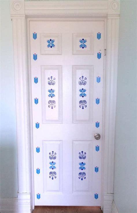 frozen elsa inspired vinyl door decal  girls room