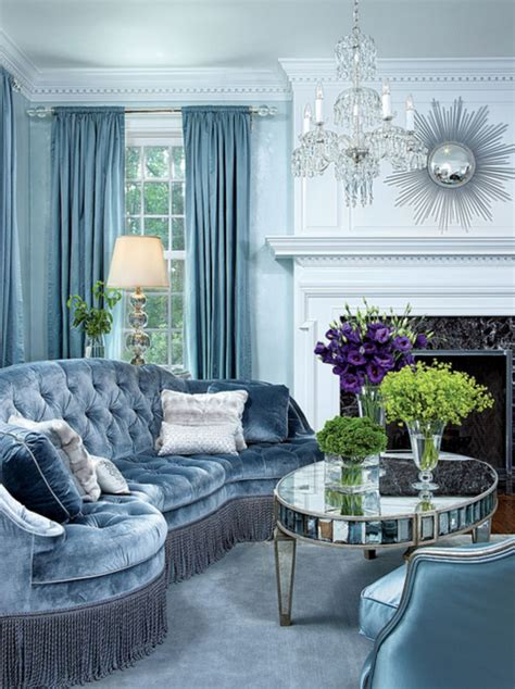 20 stunning ice blue living room design ideas for