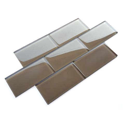 mosaic kitchen tile backsplash rich mocha cp2708 brown 3x6 glass subway tile